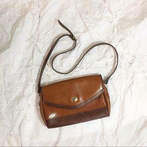 Liz Claiborne Bags - Liz Claiborne Two-tone Brown Shoulder Bag